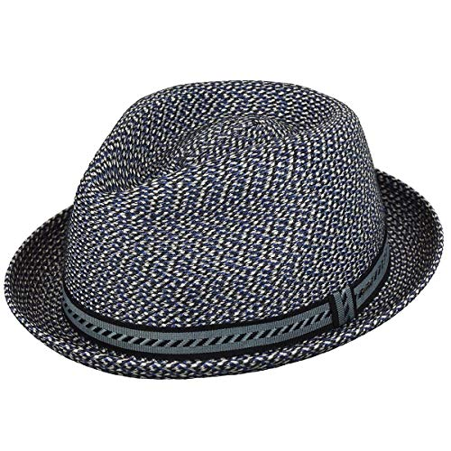 (Bailey of Hollywood Men, Women Mannes Braided Trilby Navy Multi XXL)