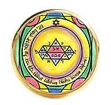 psychic ring - Solomons 5th Jupiter Seal for Manifestation & Psychic Visions Gold Adjustable Ring