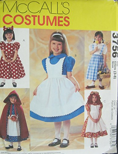 Mccalls 3756 Costume Pattern Dresses Size 3-8 -