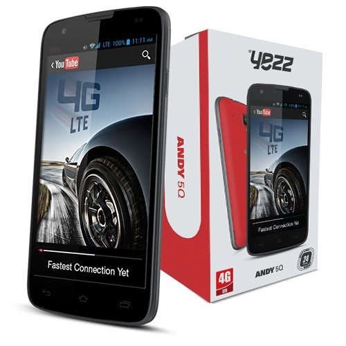 Yezz Andy 5Q - Factory Unlocked Phone - Retail Packaging - Black