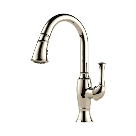 Brizo 63003LF PN Talo Kitchen Faucet With Pullout Spray, Polished Nickel