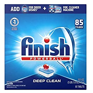 Best Epic Trends 51aa1r%2Bj1CL._SS300_ Finish - All in 1-85ct - Dishwasher Detergent - Powerball - Dishwashing Tablets - Dish Tabs - Fresh Scent