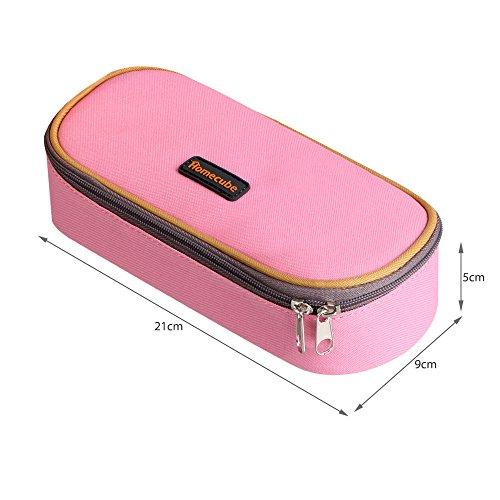 Federmäppchen, Homecube Stiftetasche Federtasche Stiftemappe mit großer Kapazität des praktischen Briefpapiers für Kursteilnehme(Rosa) Rosa