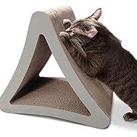 Poste de rascado vertical para gato de 3 lados PetFusion (tamaño estándar, gris cálido). [Múltiples ángulos de rayado para que coincidan con las preferencias de tu gato]