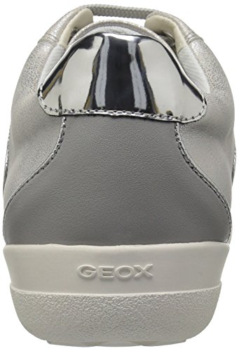 5 Off Light Women's White Sneaker Grey Nihal Geox aqw8ET8