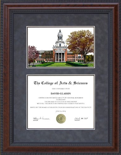 Diploma Frame with Licensed Baylor University Campus Lithograph - 18 x 24 vertical (portrait) ()