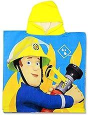 SETINO 821-454 brandmän Sam barn badponcho med huva 55 x 80 cm