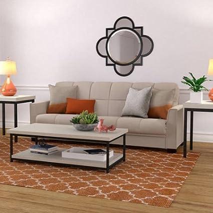Fabulous Amazon Com Mainstays Baja Microfiber Futon Sofa Sleeper Bed Ibusinesslaw Wood Chair Design Ideas Ibusinesslaworg