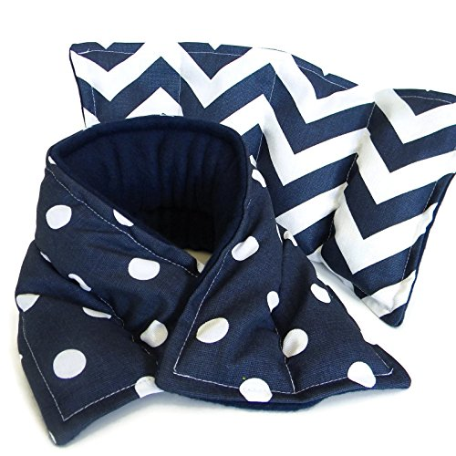 Navy Microwave Heating Pad Gift Set