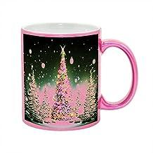 Christmas Tree Majesty Metallic Pink Sparkle Coffee Mug
