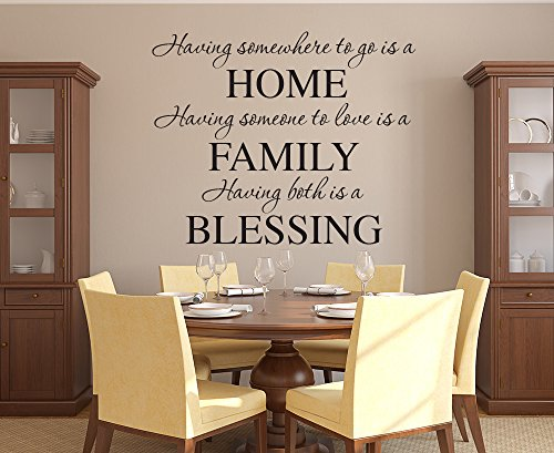 Having Somewhere To Go Is a Home Family Wall Decal Quote Lettering Words - Vinyl Wall Decal - Kitchen Home Decor (30W x 28H) by Lovely Decals World