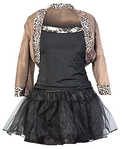 80s Pop Star Fancy Dress Ladies 1980s Madonna Womens Costume Outfit 8 10 12 (Women: 14, Popstar) by Emmas (Madonna Material Girl Fancy Dress)