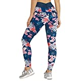 Sunmoot Ladies Fitness Yoga Running Training Tight Elastic Printed Yoga Pants