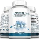 Alpine-Nutrition-L-Arginine-500mg-Free-Form-NOS-Nitric-Oxide-Capsules-60-Veggie-Capsules