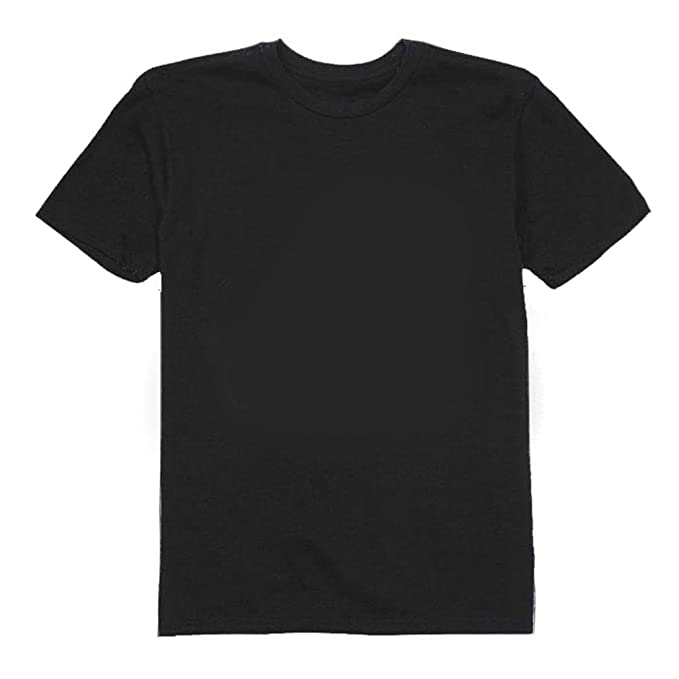 Khanomak - Camiseta de Manga Corta, de 100% algodón. Lisa, de Cuello