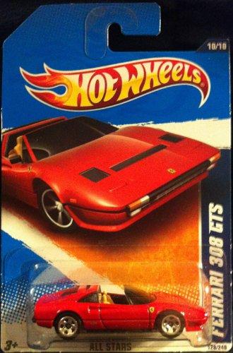 Hot Wheels 2011-128/240 All Stars 10/10 RED Ferrari 308 GTS Race On Line 1:64 - Ferraris Online