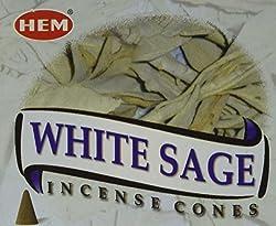 White Sage - Case of 12 Boxes, 10 Cones Each - HEM Incense
