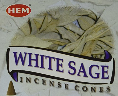 White Sage - Case of 12 Boxes, 10 Cones Each - HEM ()