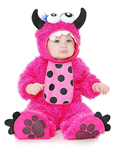 Charades Little Monster Madness Costume Jumpsuit, Hood,