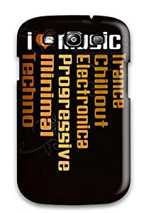 Durable Protector Case Cover With I_heart_music Hot Design For Galaxy S3