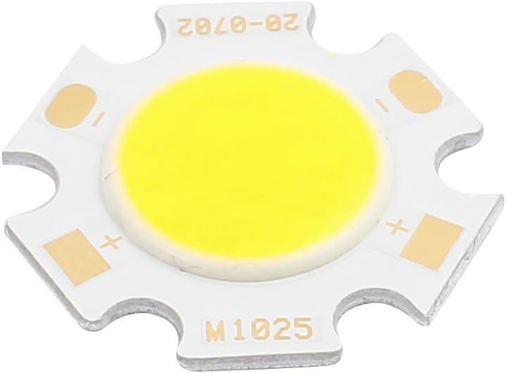 Aexit DC 21-24V 7W Ronda 20mm Dia Super Brillante COB LED Chip Lámpara de (model: W9004OIV-3278XB) luz blanca pura