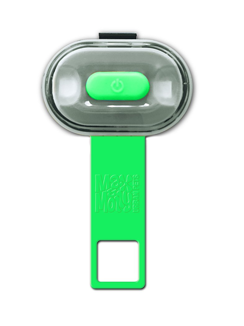 Max & Molly Ultra Bright Pet Safety Light | Lime Green | USB Charged, No Batteries Needed | 100% Waterproof | One Size Fits All