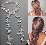 Jovono Wedding Headpiece Bridal Headband Hair Vine Accessory for Women and Girls