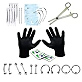 BodyJ4You 25PCS Professional Piercing Kit BCR CBR 14G Labret Belly Nipple Nose Lip Body Jewelry