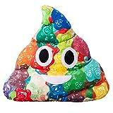Omika Camouflage Poop Emoji Soft Stuffed Plush Cushion Pillow - 35x32x8cm Large Emoticon Pillow - Gift for Boys, Girls, Kids & Children