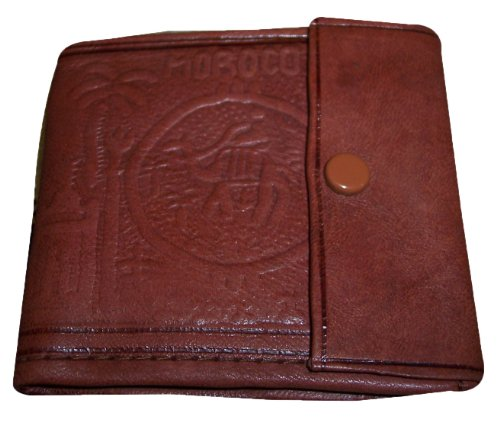 BROWN HAND MADE MOROCCAN LEATHER POCKET WALLET