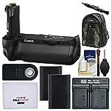 Canon BG-E20 Battery Grip for EOS 5D Mark IV Digital SLR Camera with 200EG Backpack + 2 LP-E6N Batteries & Dual Charger + Remote Kit