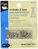 Dritz Hooks & Eyes Nickel Size 2