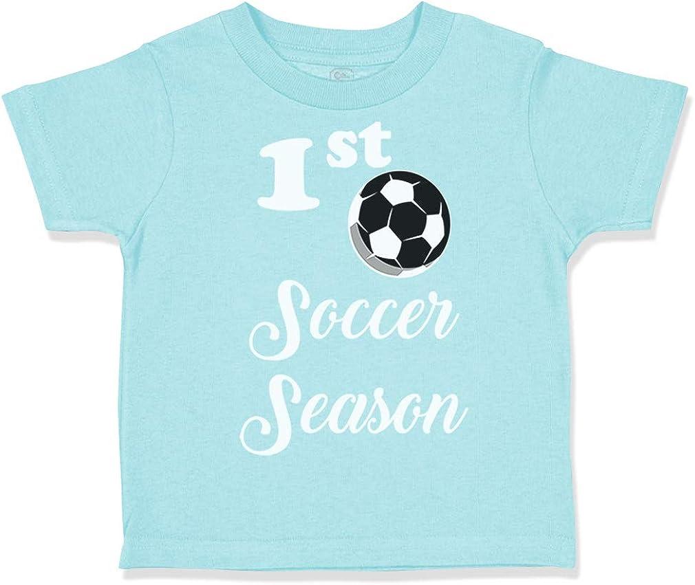Custom Toddler T-Shirt First Soccer Season Cotton Boy /& Girl Clothes