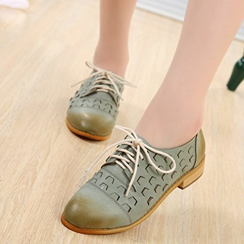 Perforated Platform Out Shoes Shoes British Style Lace Womens Oxford Blue Oxford Vintage Hollow Hoxekle up OEqX8nW