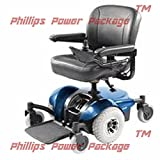 "Invacare - Pronto M41 - Fold Down Power Wheelchair - 18"" x 18"" Seat - Blue - PHILLIPS POWER PACKAGE TM - TO $500 VALUE"