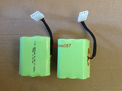 Super Extended 3800mAh Battery 2-Pack for Neato xv-11 xv-12 xv-15 xv-21 xv-25 Signature XV Pro VR100 945-0005 205-0001 945-0006 945-0024 Robotic Vacuum Cleaner