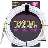 Ernie Ball P06047 20FT Straight/Angle White Jacket w/Bonus RIS Picks (x3) 749699160472