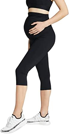 Rockwear Activewear Women's Maternity 3/4 Tight from Size 4-18 for 3/4 Length Ultra High Bottoms Leggings + Yoga Pants+ Yoga Tights