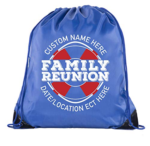 Life Raft with Custom Name and Date-Family Reunion Party Favor Bags - 10PK Royal CE2500FAM -