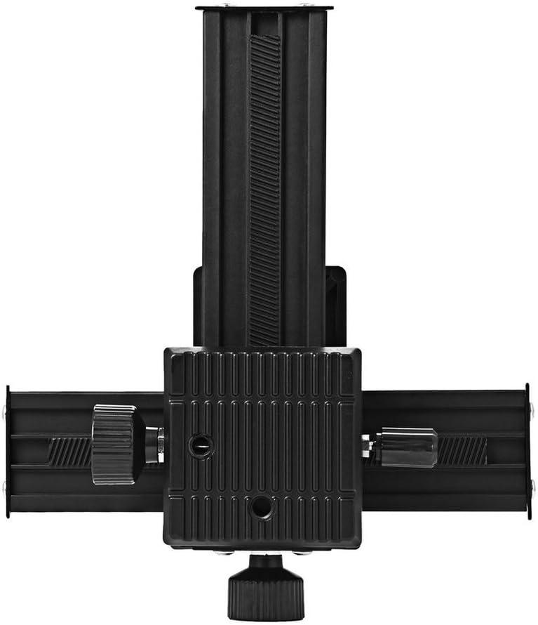 Unitedheart Pro 4 Way Magnesium Alloy Macro-Focusing Rail Slider Close-Up Shooting Photography Tripod Head for DSLR Camera Pot Lid Rackpot Lid Rack