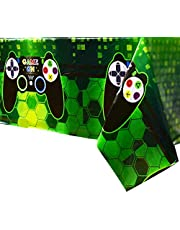 WERNNSAI Video Game Party Supplies - Game Theme Table Covers Pack of 4