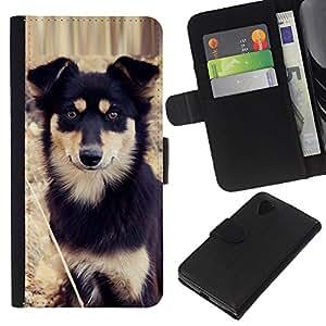 eJoy---La carpeta del tirón la caja de cuero de alta calidad de la PU Caso protector - LG Nexus 5 D820 D821 - --Alaskan Malamute Mastiff Puppy Dog