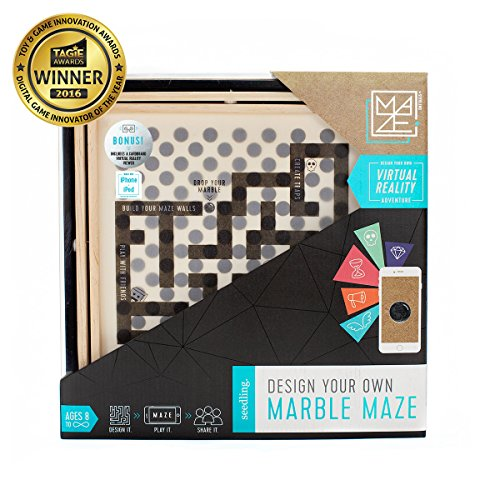 Seedling Design Your Own Marble Maze: Award Winning DIY Virtual Reality Game, Educational STEM Toy for Ages 8+ Year Olds, Great Gift for Kids (iPhone, iPad, iPod, Android) by Seedling (Image #1)