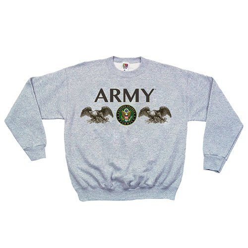 Fox Outdoor Products Marines Seal Crewneck Sweatshirt, Grey, (Marines Adult Sweatshirt)