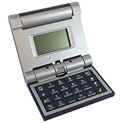 Consumer Electronic Products World Time Clock /Calculator /Alarm/ Calendar - Travel Flip Calculator and Alarm Supply Store