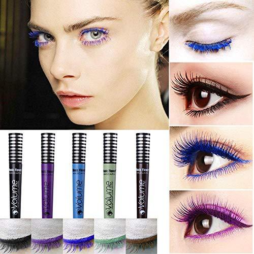 Colored Mascara, TEEPAO Waterproof Mascara For Women Thick Longlasting Eyelash, Professional Blue Purple Black Green Brown Mascarafor Eye Cosplay Halloween -