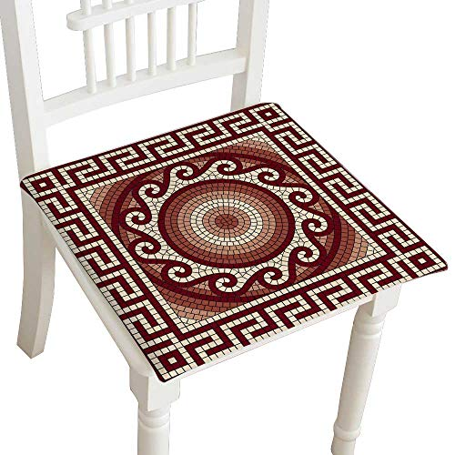 HuaWuhome Dining Chair Pad Cushion Mosaic with Classic Greek Meander Ornament Fashions Indoor/Outdoor Bistro Chair Cushion 30