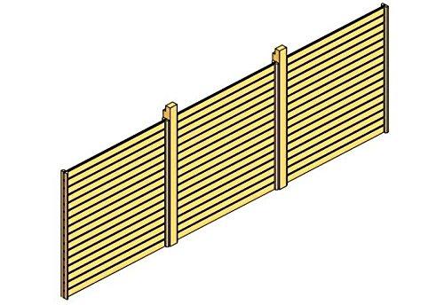 Skan Holz Rückwand für Carport 550 x 200 cm Profilschalung