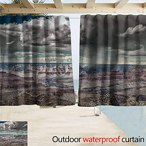 (MaryMunger Simple Curtain Nature Clouds on Grand Canyon Simple Stylish Waterproof W55x63L Inches)