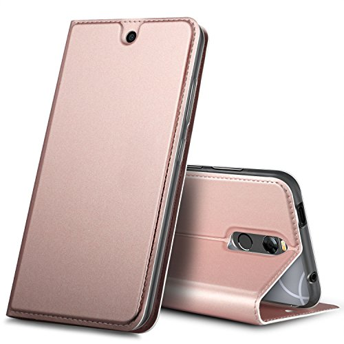 BLU R2 PLUS case, KuGi BLU R2 PLUS case, ultra-thin DD style PU Cover + TPU Back stand Case For BLU R2 PLUS smartphone(Rosegold) by KuGi